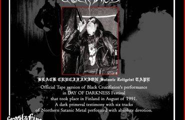 BLACK CRUCIFIXION Satanic Zeitgeist TAPE – OUT NOW!!!