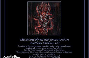 NECROMONARCHIA DAEMONUM Anathema Darkness CD – OUT NOW!!!